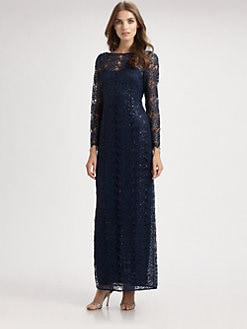 Kay Unger - Lace Illusion Gown