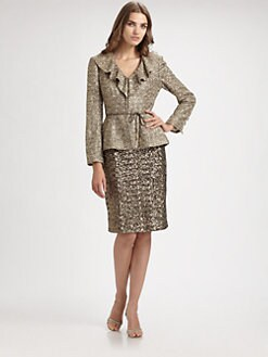 Kay Unger - Tweed Jacket & Sequin Skirt