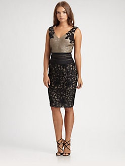 Kay Unger - Sequin Underlay Dress