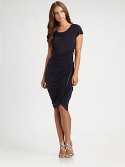 Kay Unger - Ruched Zipper Dress