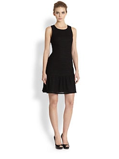 Kay Unger - Textured-Pattern Knit Dress