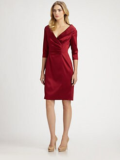 Kay Unger - Satin Collar Dress