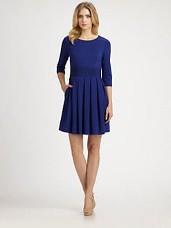 Phoebe Couture by Kay Unger - Ponte Pleated-Skirt Dress