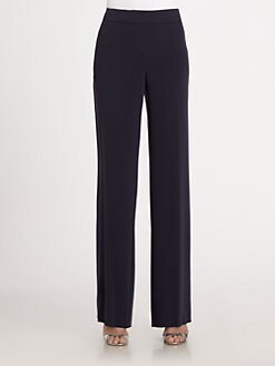 St. John - Luxe Crepe Shelly Pants