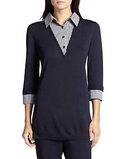 St. John - Layered Wool Sweater