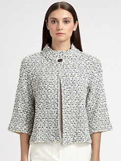 St. John - Organza Tweed Knit Jacket