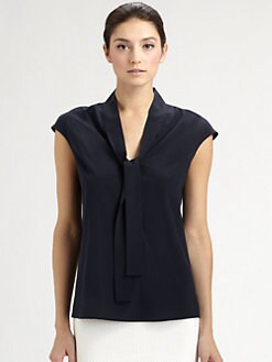 St. John - Stretch Silk Tie Top