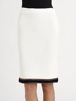 St. John - Grasse Tweed Knit Pencil Skirt