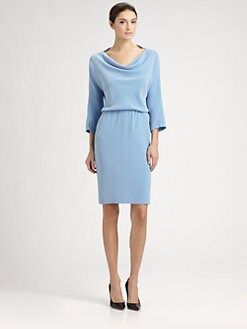 St. John - Cowl Neck Dress