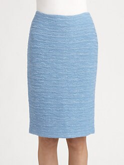 St. John - Shantung Knit Pencil Skirt