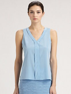 St. John - Sleeveless Silk Top