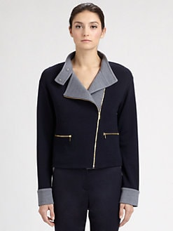 St. John - Milano Knit Colorblock Jacket