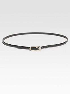 St. John - Skinny Patent Leather Belt