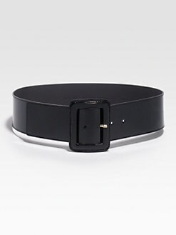 St. John - Wide Patent Leather Belt
