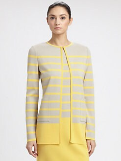 St. John - Striped Milano Knit Jacket