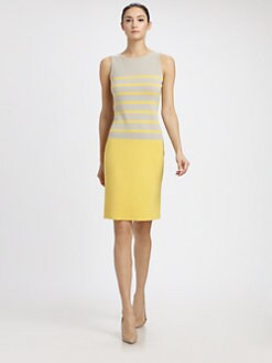 St. John - Milano Knit Stripe Dress