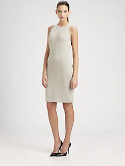 St. John - Milano Knit Paneled Dress