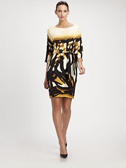 St. John - Stretch Silk Dress