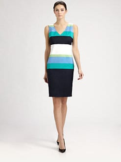 St. John - Sateen Stripe Dress