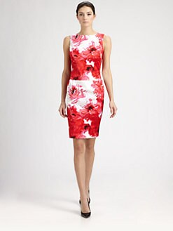 St. John - Sateen Chrysanthemum Dress