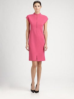 St. John - Zip-Front Dress