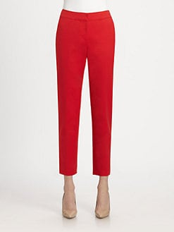 St. John - Stretch Cotton Emma Pants