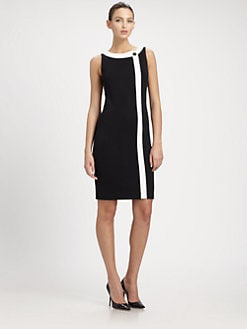 St. John - Contrast Trim Dress