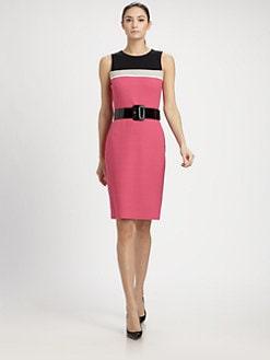 St. John - Colorblock Boucl&eacute; Dress