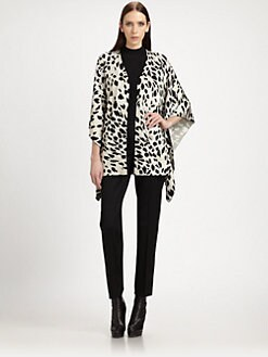 St. John - Animal Print Poncho