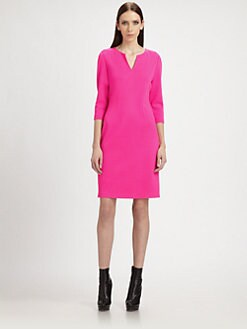 St. John - Darted Milano Knit Dress
