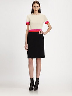 St. John - Milano Intarsia Knit Dress