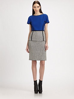 St. John - Soho Tweed Knit Dress