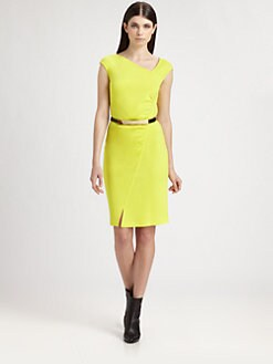 St. John - Milano Knit Asymmetrical Dress