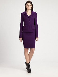 St. John - Cobblestone Tweed Blazer