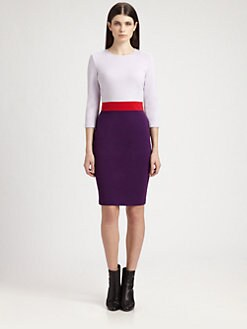 St. John - Milano Knit Colorblock Dress