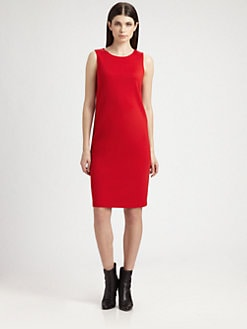 St. John - Grosgrain-Trimmed Milano Knit Dress