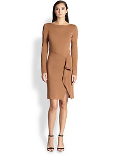 St. John - Drape-Front Knit Dress