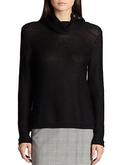 St. John - Shoulder-Button Sweater
