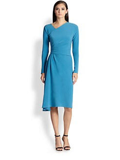 St. John - Asymmetrical Drape Dress