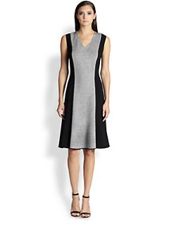 St. John - Tweed & Knit Contrast Dress