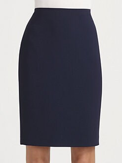 St. John - Crepe Marocain Pencil Skirt