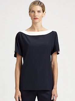 St. John - Stretch Silk Top