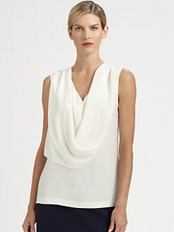 St. John - Draped Crepe Top