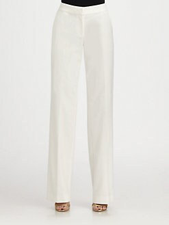 St. John - Shelley Stretch Cotton-Blend Pants