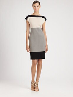 St. John - Colorblock Milano Knit Dress