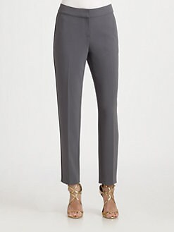 St. John - Cropped Crepe Emma Pants