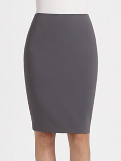 St. John - Crepe Pencil Skirt