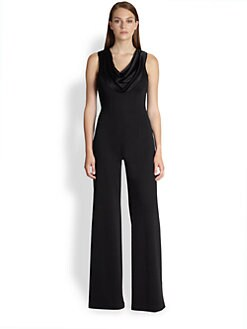 St. John - Liquid Satin Cowl Jumpsuit