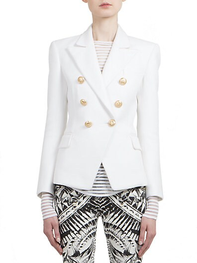 BALMAIN Honeycomb Double-Breasted Blazer