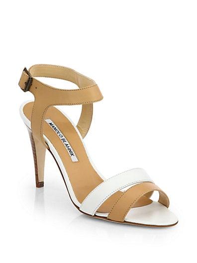 Musansan Bicolor Leather Sandals